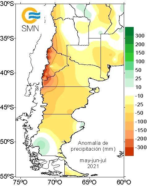 Sequía y falta de nieve en Patagonia y Cuyo