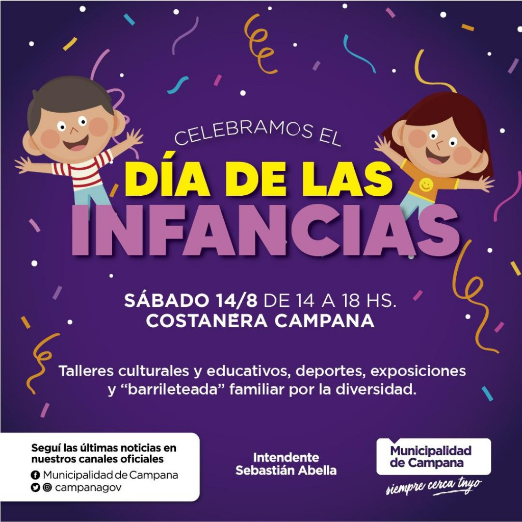 Este sábado, la nueva Costanera se llenará de colores para celebrar el Día de las Infancias