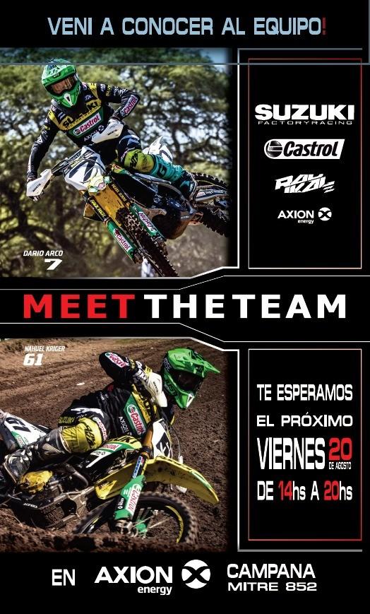 El equipo Suzuki Castrol Radikal Team llega mañana a Campana