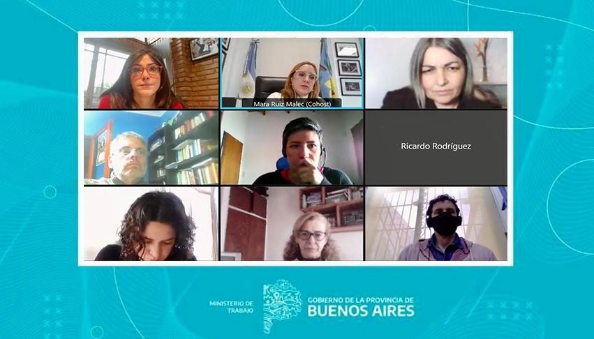 Junto a Ruiz Malec, la diputada Alonso brindó una charla sobre Géneros y Mundo del trabajo