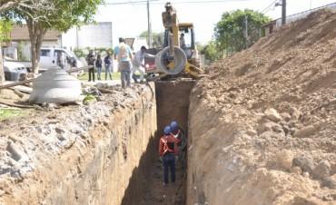 El Municipio realiza importantes obras para evitar anegamientos en la zona de Alferi y Formosa