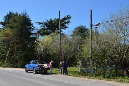 El Municipio profundiza la instalación de nuevas luminarias en la Ruta N° 4
