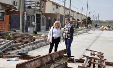 El Municipio avanza con la pavimentación completa de los Barrios Malvinas y Federal