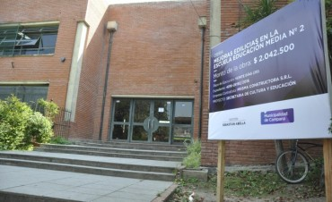 Se iniciaron importantes mejoras edilicias en la Escuela Media N°2