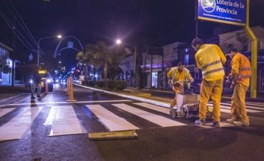 Comenzó la demarcación vial de la avenida Varela