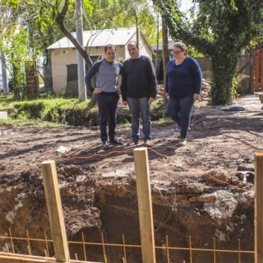 Las Acacias: el Municipio inició una importante obra hidráulica previo a la repavimentación de calles