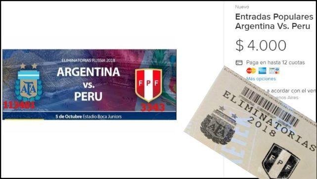 Argentina-Perù: Se agotaron las populares y la reventa arrancó con todo
