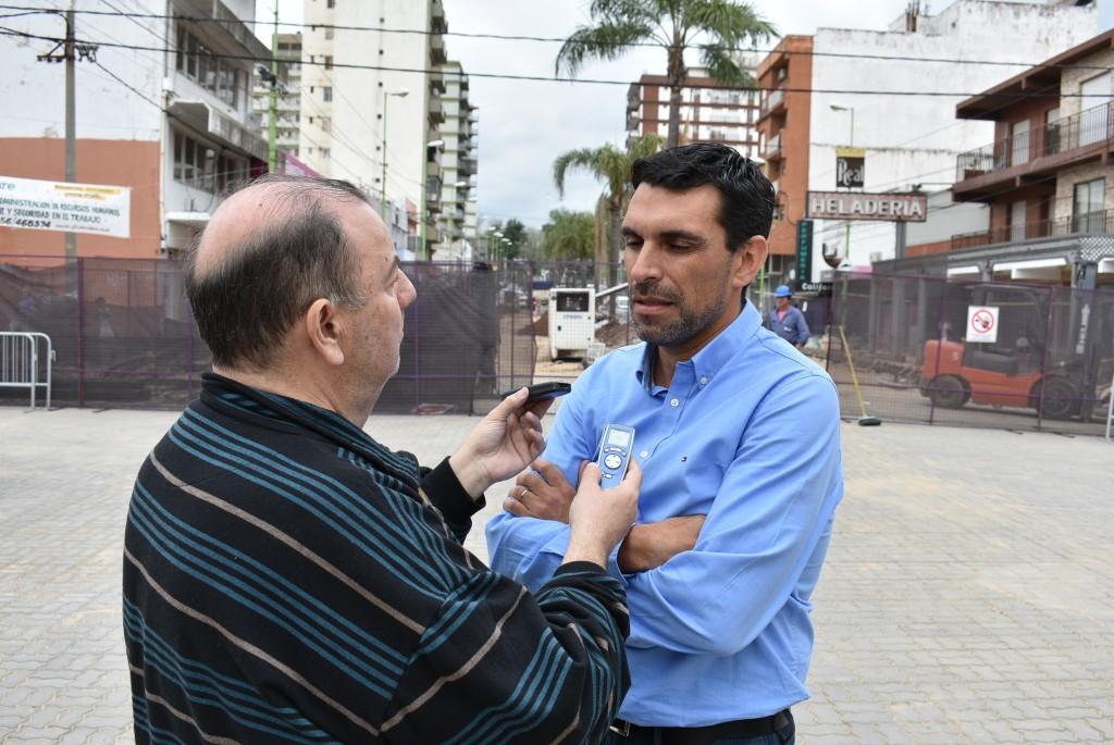 Fernando Sajnìn: adelantamos la inauguraciòn de la tercera cuadra