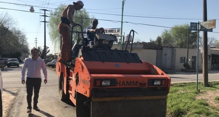Avanzan las obras de asfalto en las calles de La Josefa