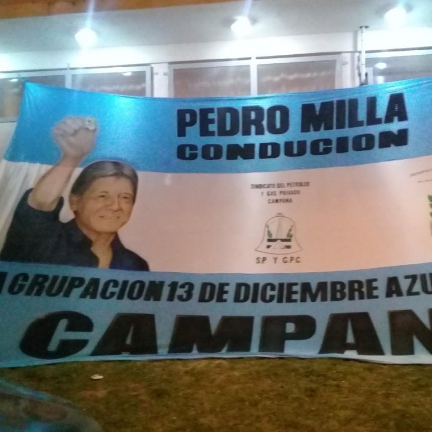 Fue presentada la candidatura de Pedro Milla a la Federaciòn del Petróleo