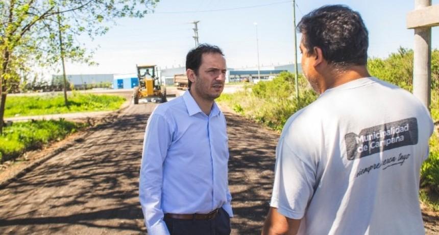 Las Acacias: Abella recibió el agradecimiento de vecinos por las obras en el barrio