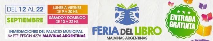 CON UNA PROGRAMACIÓN DE PRIMER NIVEL ABRE EL JUEVES 12:  LA PRIMERA FERIA DEL LIBRO DE MALVINAS ARGENTINAS