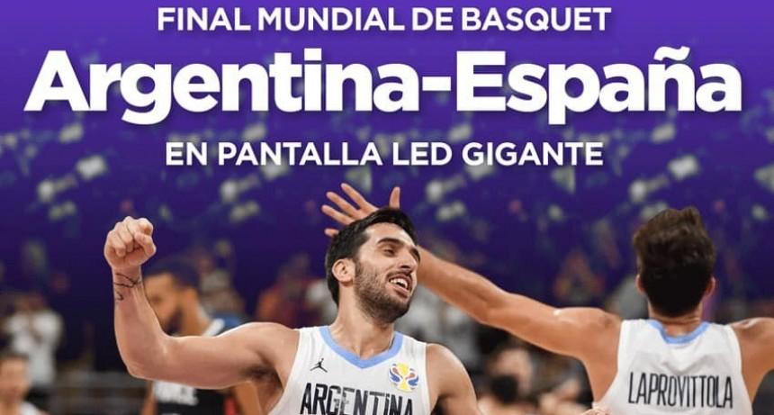 Invitan a la comunidad a ver la final del Mundial de Básquet en pantalla gigante