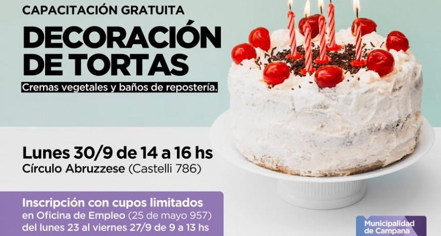 Decoración de tortas: impulsan una capacitación gratuita