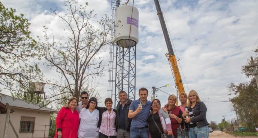 El Municipio instaló un tanque de agua de 75.000 litros en Las Praderas