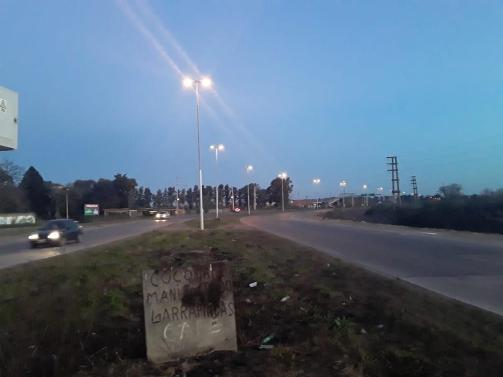 Iluminación de Ruta 6: reparan y colocan un transformador que había sido robado