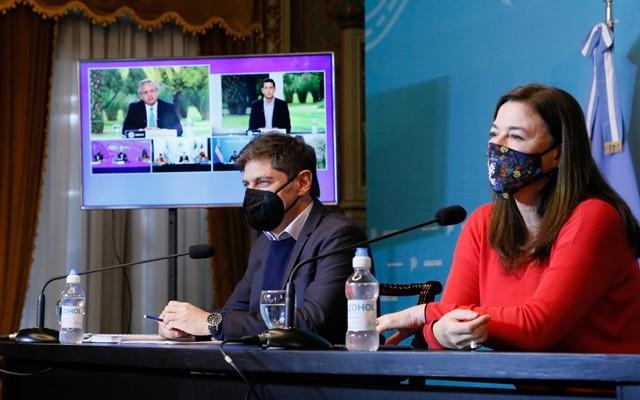 Kicillof participó de la presentación del programa nacional Acompañar