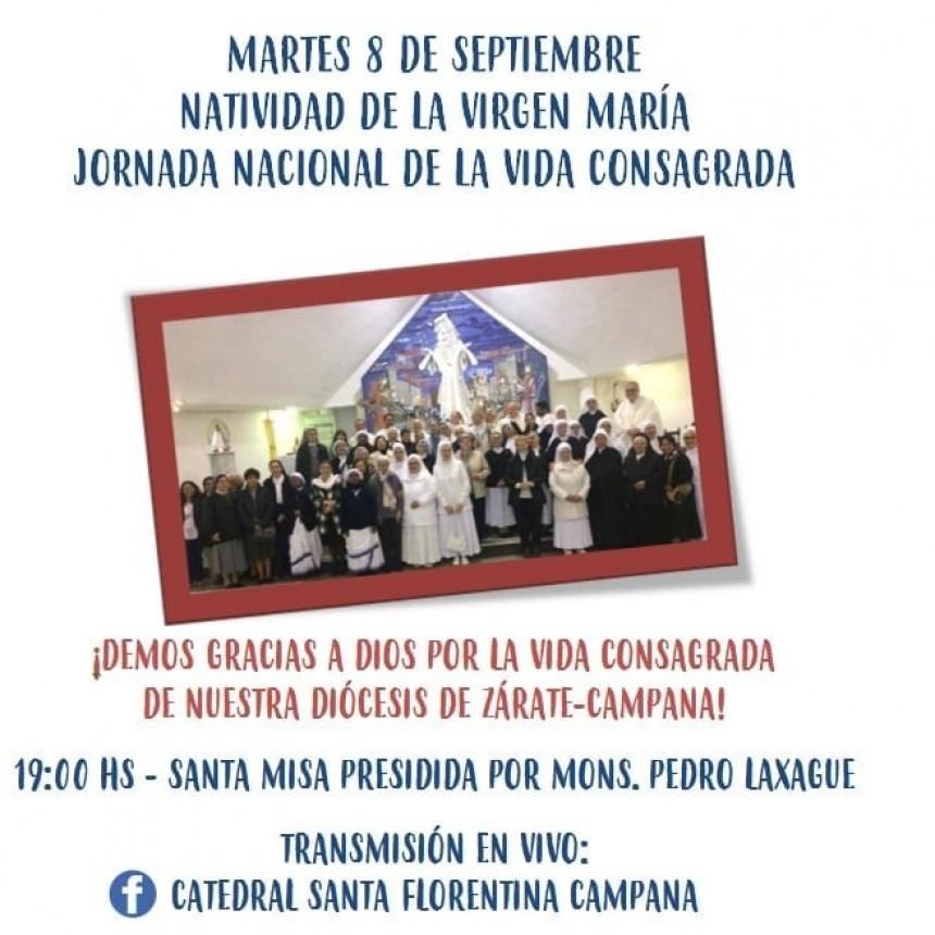 Martes 8 de setiembre : Santa Misa en vivo por el perfil de Facebook de la Catedral Santa Florentina