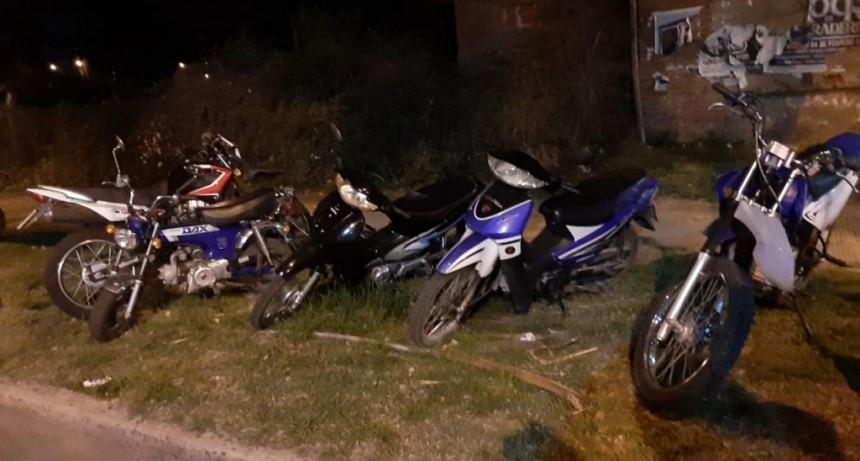 Secuestran 8 motos y 1 auto en un nuevo operativo de prevención