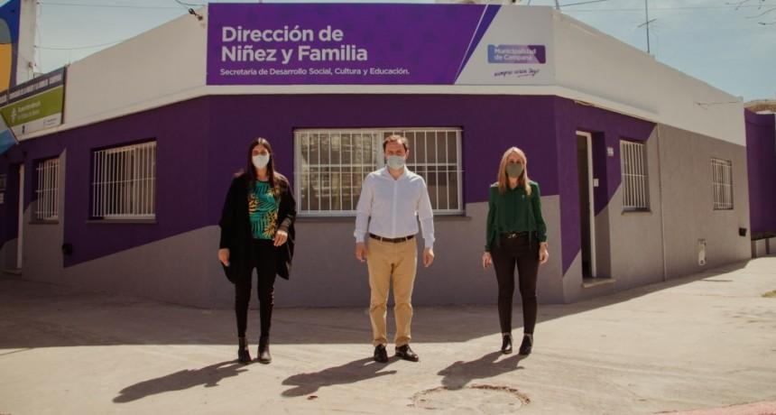 El Intendente reinauguró la Dirección de Niñez y Familia