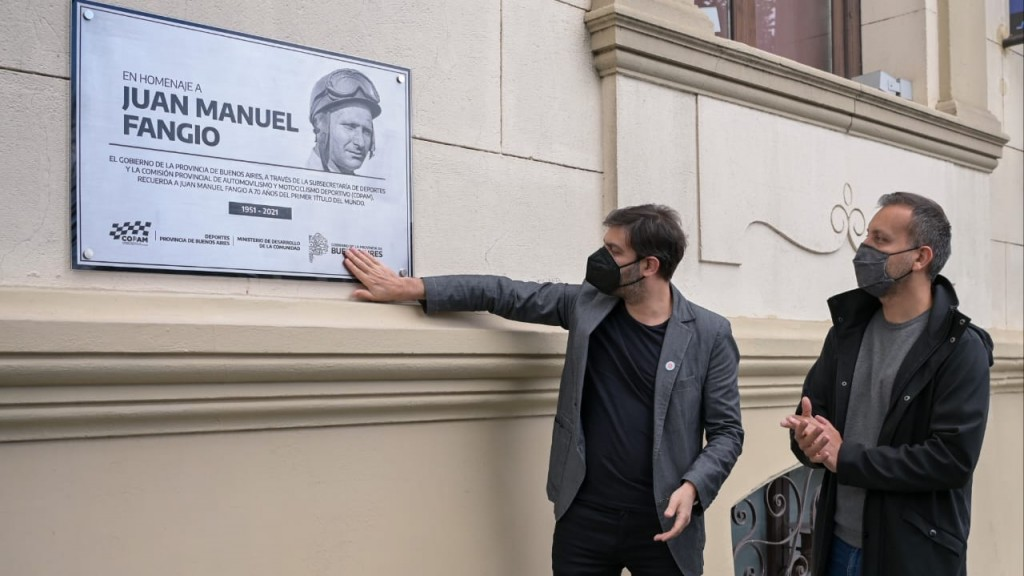 Bianco homenajeó a Juan Manuel Fangio en Balcarce