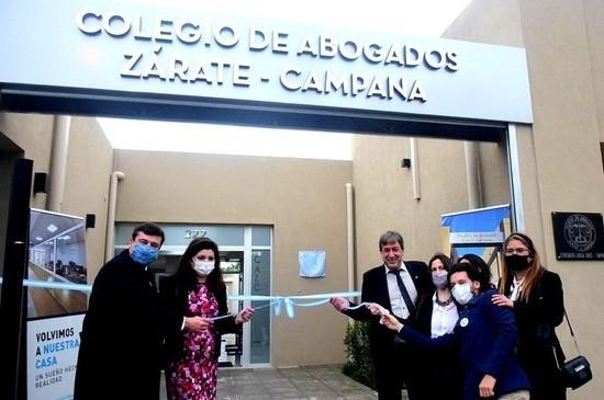 El Colegio de Abogados de Zárate-Campana inauguró su nueva sede