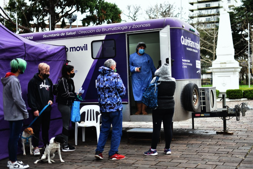 El Municipio vacunará mascotas contra la rabia en la Plaza Eduardo Costa