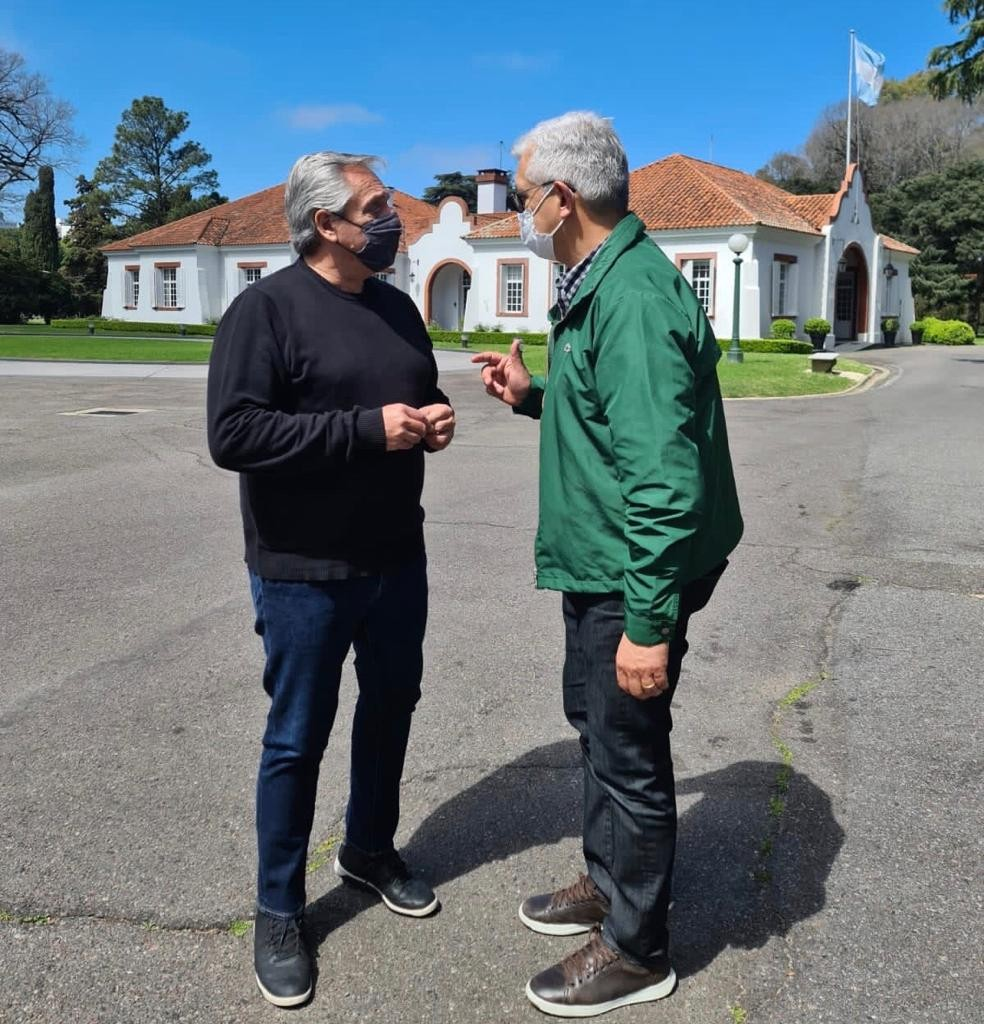 Julián Domínguez se reunió con Alberto Fernández y Juan Manzur
