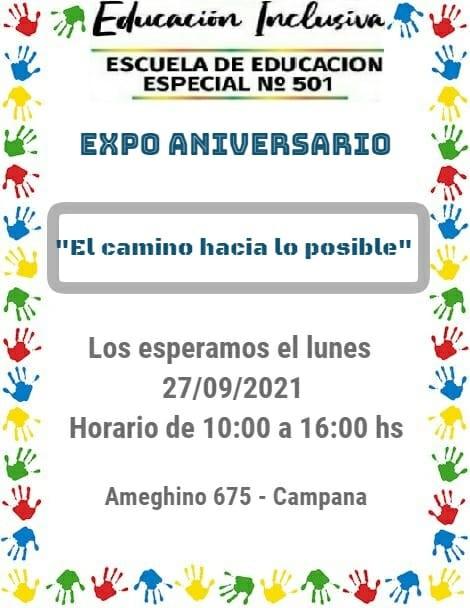 LA ESCUELA DE EDUCACION ESPECIAL Nº 501 FESTEJA UN NUEVO ANIVERSARIO