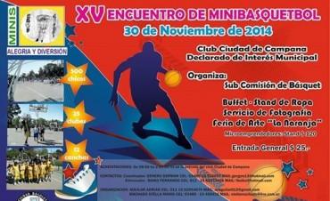 XV ENCUENTRO DE MINI BASQUETBOL CLUB CIUDAD DE CAMPANA
