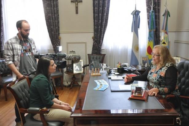 El Canal de TV de Galicia entrevistó a la Intendente Giroldi
