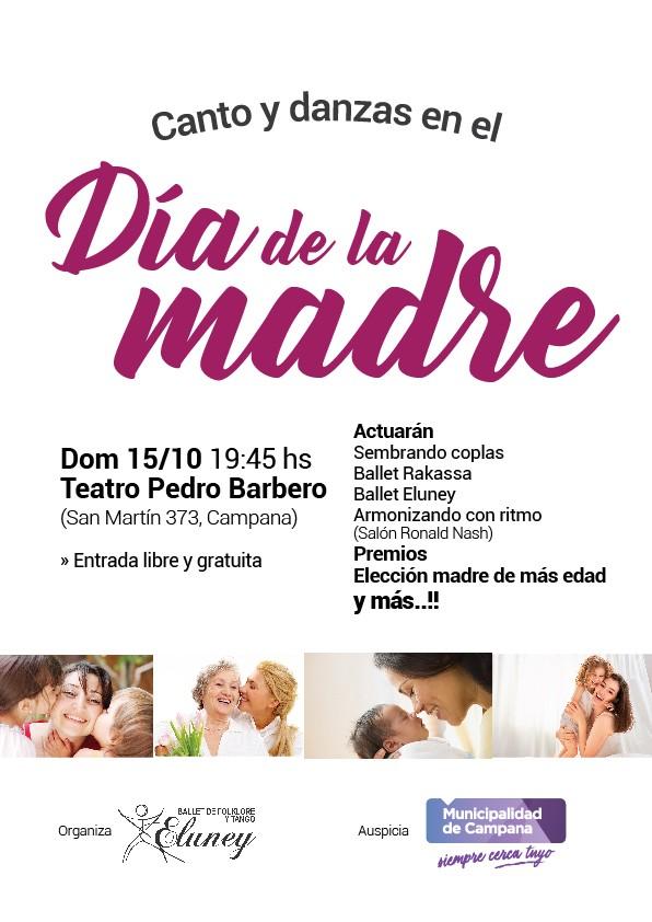 """Se viene una nueva edición de """"Canto y danzas en el Día de la Madre"""""""