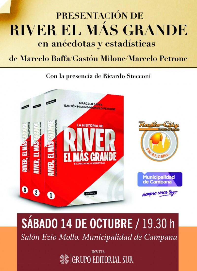 Hoy se presenta el Libro River Plate el Más Grande