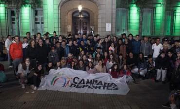 Partió a Mar del Plata la delegación que representará a Campana en los Juegos Bonaerenses