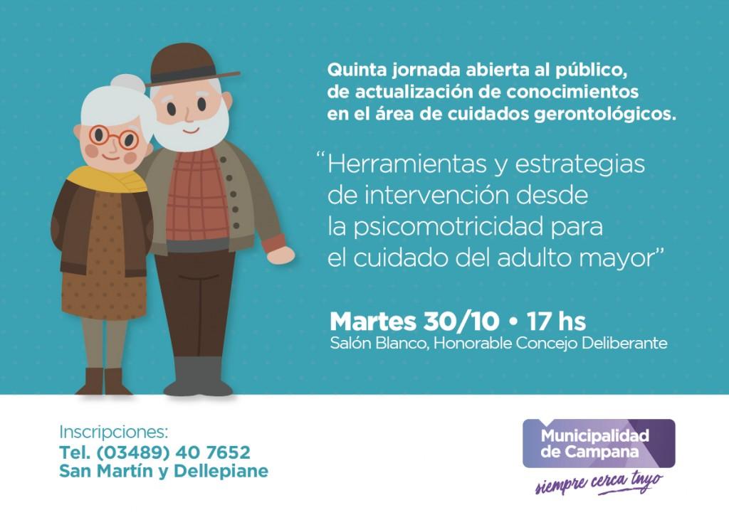 Habrá una nueva jornada de actualización de conocimientos sobre cuidados gerontológicos