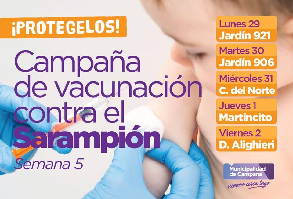 Vacuna contra el Sarampión: el móvil sanitario seguirá recorriendo los jardines de infantes