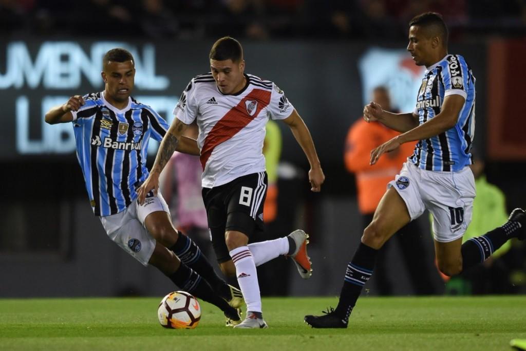 River Plate viajò a Brasil para jugar la revancha con Gremio