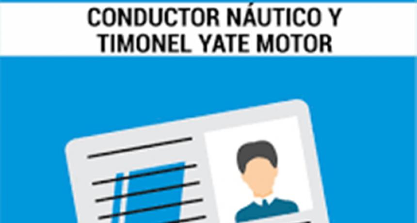 Se realizarán los Cursos de Conductor Náutico y Timonel Yate a Motor en el CBC