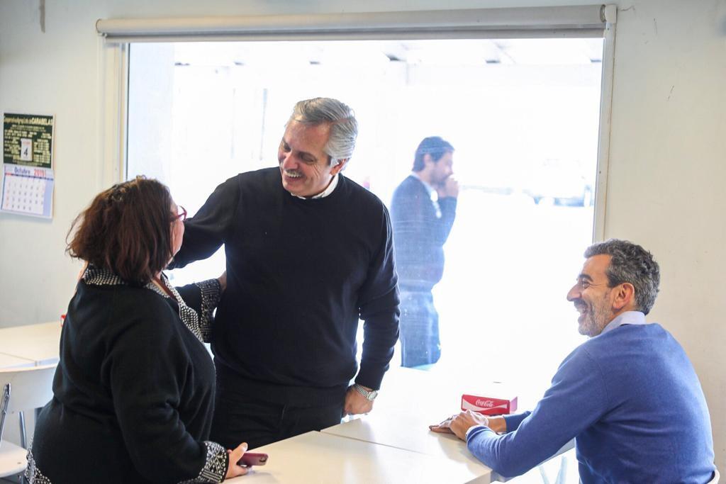 Alberto Fernández junto a Florencio Randazzo