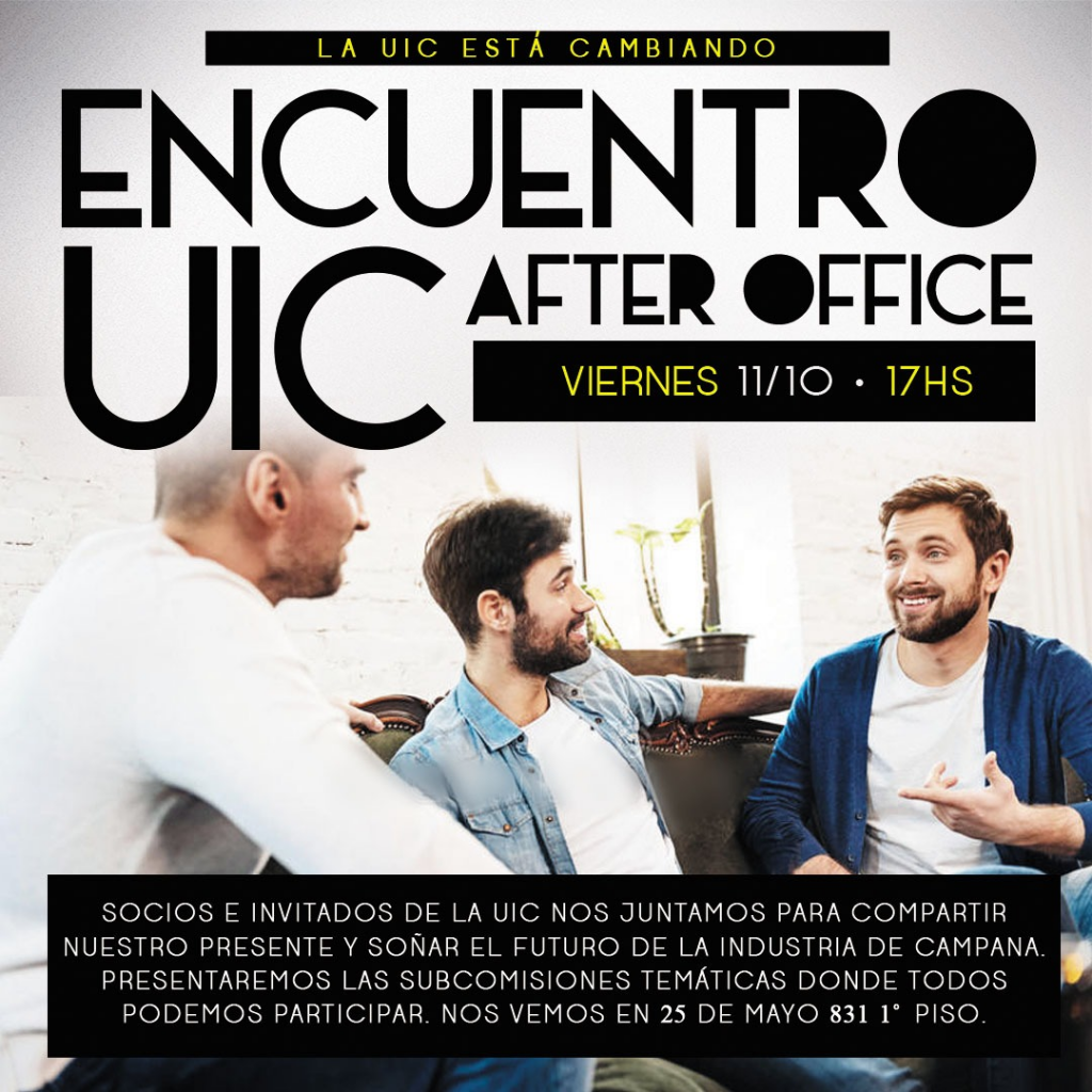 Encuentro UIC After Office Viernes 11/10 17:00 hs