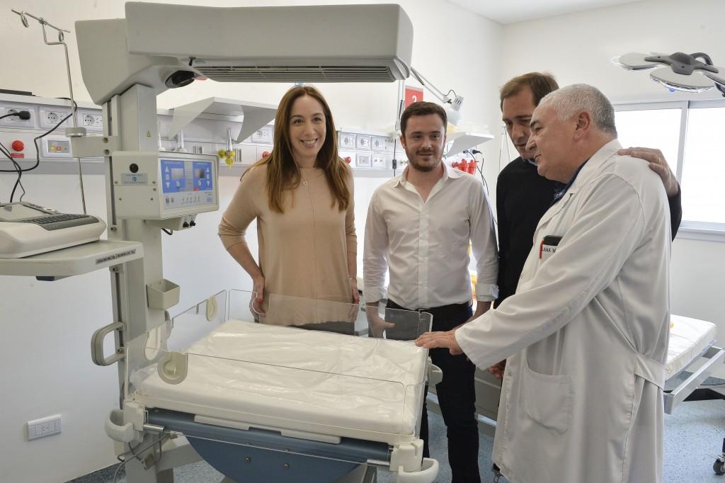 VIDAL RECORRIÓ LA NUEVA GUARDIA DEL HOSPITAL RICARDO GUTIÉRREZ EN LA PLATA QUE SE INAUGURA MAÑANA