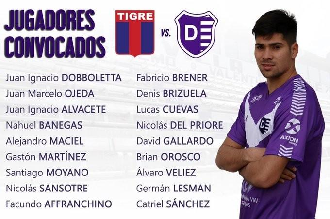 Villa Dálmine jugará el partido suspendido el martes a las 19.10 horas