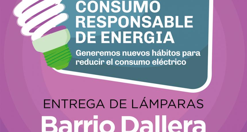 Este lunes se entregarán lámparas de bajo consumo en Dallera