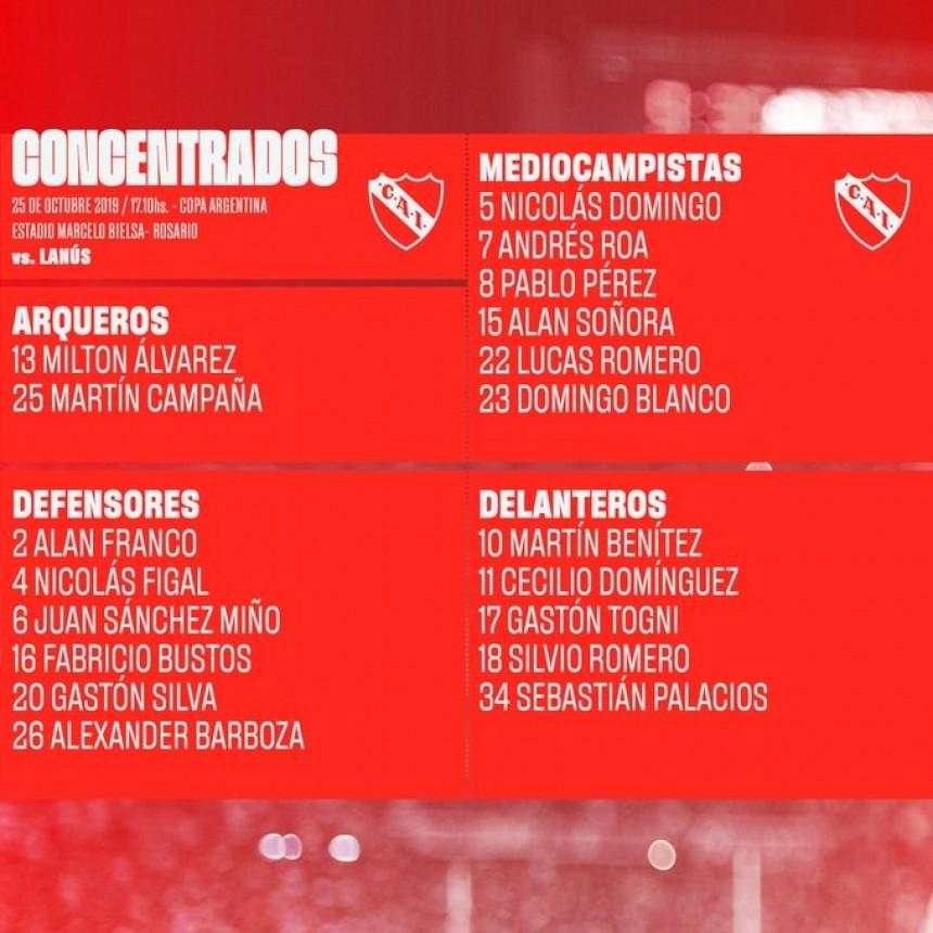 Independiente enfrenta a Lanús en Rosario buscando un lugar en la semifinal