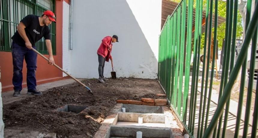 El Municipio realizó obras de desagües en la Escuela N°3