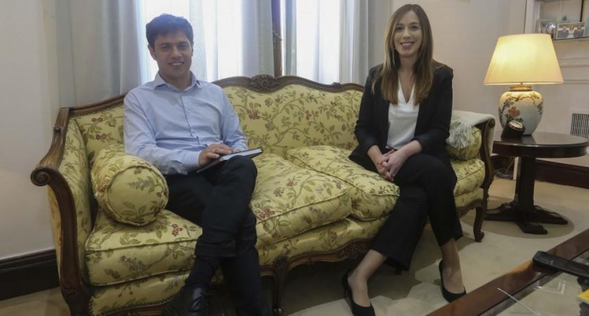 REUNIÓN DE LA GOBERNADORA MARÍA EUGENIA VIDAL CON EL GOBERNADOR ELECTO AXEL KICILLOF