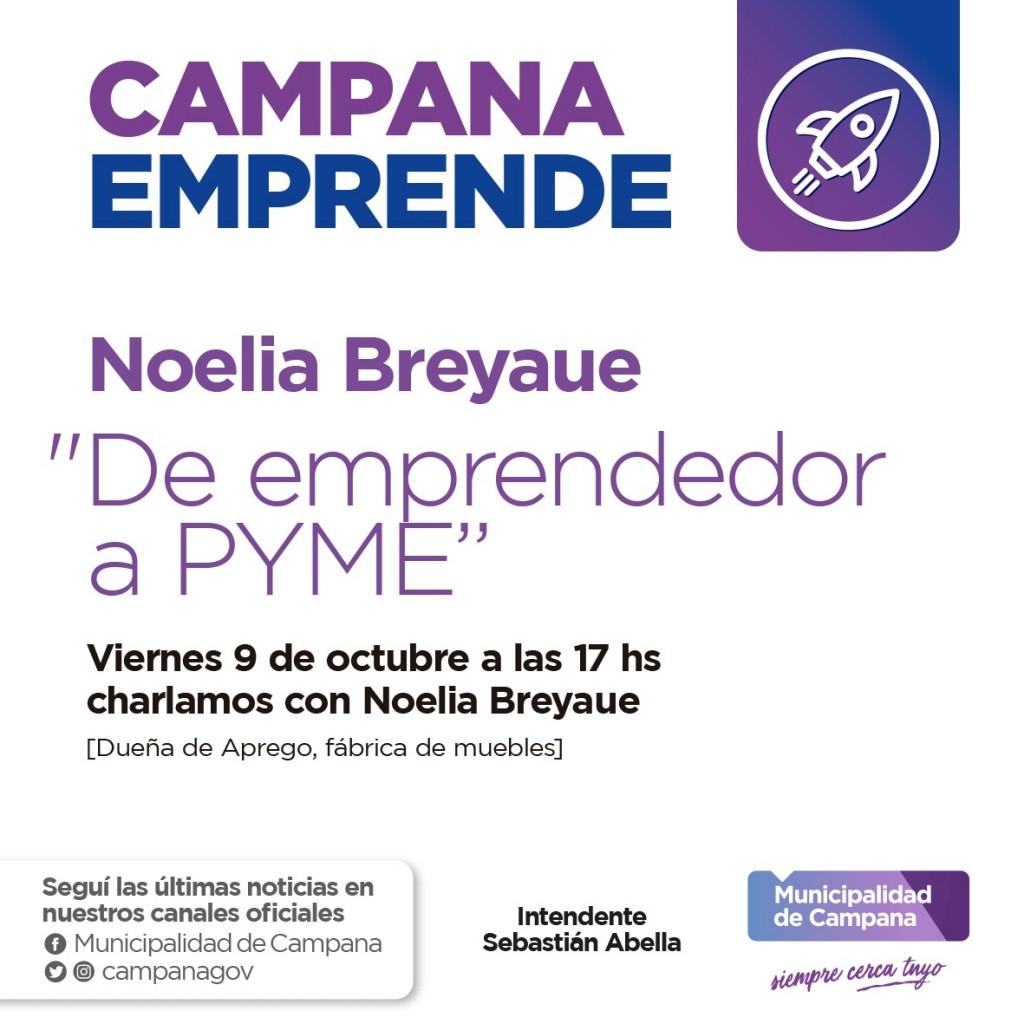 """""""Campana emprende"""" presenta la charla """"De emprendedor a PyME"""""""