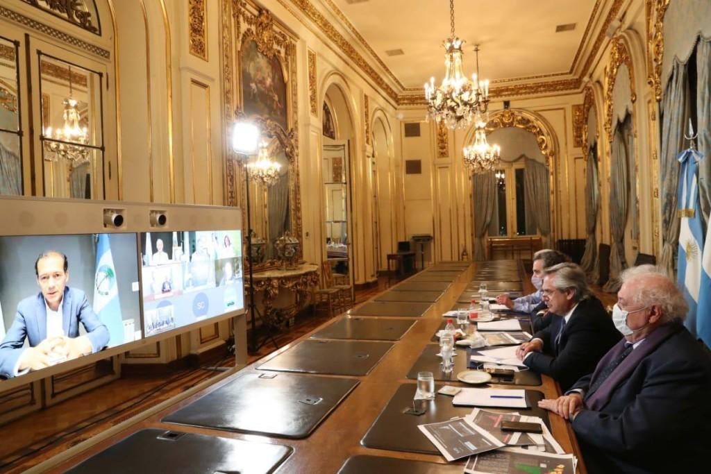 Coronavirus: El presidente Alberto Fernández mantuvo una reunión virtual con gobernadores