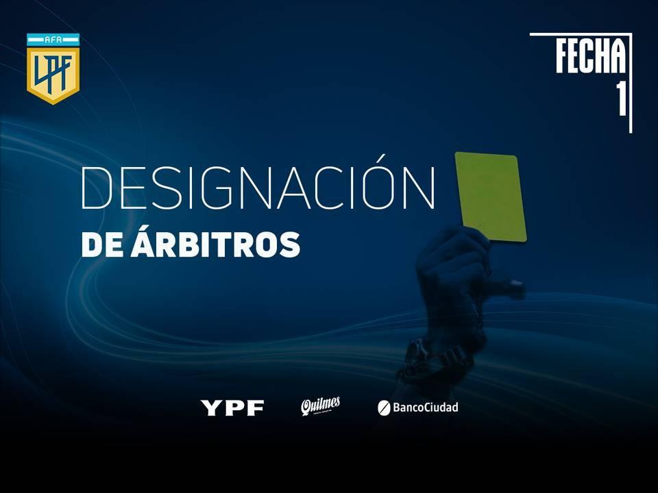 FUERON DESIGNADOS LOS ARBITROS PARA LA PRIMERA FECHA DE LA COPA DE LA LIGA PROFESIONAL
