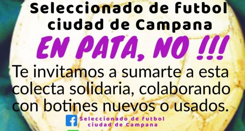 Colecta solidaria del seleccionado de futbol  ciudad de Campana